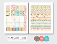Free Monthly Printable Planner Stickers Set - Today - Erin Condren
