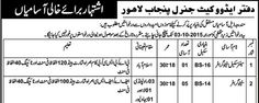 #Jobs in Advocate General Punjab Lahore for Stenographer, Clerk, Driver