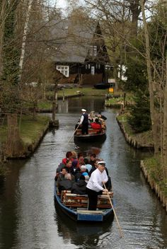 Spreewald Region Draws Tourists - Navigate the narrow canals of the Spreewald forest in Luebbenau, Germany. The Spreewald is interlaced with canals that locals use for ferrying tourists, transporting goods and even collecting garbage and delivering mail. The Spreewald is also a major tourist destination.