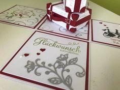 Noch eine Hochzeitsbox – Melli's StempelParadies Calendar, Playing Cards, Holiday Decor, Hide Money, Boxes, Card Wedding, Tutorials, Cards, Projects