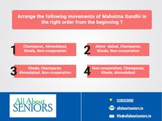 #ThrowbackThursday Arrange the following movements of Mahatma Gandhi in the right order from the beginning: http://www.allaboutseniors.in/blogs.php  #Historyquestion #MindTest #TryAndBeat #QuizTime #Knowingtheleader