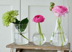 Alternative to a vase, arrange #flowers in beacons!