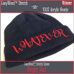 5d77dfde88c EasyWeed Stretch on a100% acrylic beanie Siser Easyweed