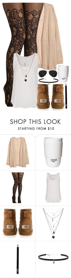 """#46 - First Group"" by oneandonlyfashion ❤ liked on Polyvore featuring H&M, ROOM COPENHAGEN, French Connection, UGG Australia, Ray-Ban, Space NK and Carbon & Hyde"