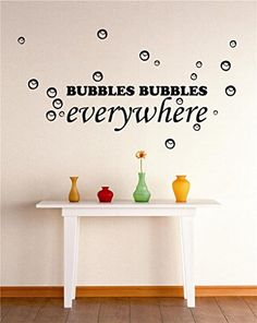 Design With Vinyl Zzz 1373 Bubbles Bubbles Bubbles Everywhere Bathing  Shower Bathroom Stylish Vinyl Wall Decal