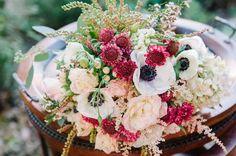 pink and white wedding bouquet http://www.weddingchicks.com/2013/10/02/romantic-fall-wedding-ideas/