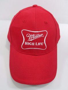 ebccd60be7a MILLER HIGH LIFE Beer Baseball HAT Vintage ACME Curved Bill Adjustable Cap  ~ NEW  Miller