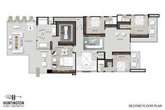 1475 Bel Air Road – Huntington Estate Properties Dream Home Design, House Design, Bel Air House, Bel Air Road, Island With Seating, Floor Layout, Estate Homes, Modern Luxury, Second Floor