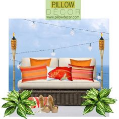 Pillow Decor by sierraday on Polyvore. Take me to the Tiki Room!