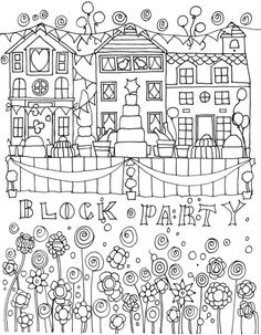 Welcome to Dover Publications - BLISS Celebrate Garden Coloring Pages, Summer Coloring Pages, Free Coloring Pages, Coloring Sheets, Coloring Books, Dover Publications, Summer Colors, Colorful Pictures, Stress Relief