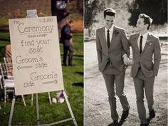 wedding ceremony sign, www.christinalogandesign.com, wedding, gay wedding