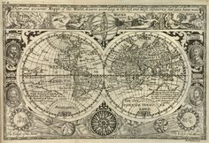 Historic Map of the World 1628