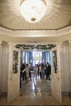 The Ritz-Carlton San Francisco all dressed up for Christmas.  Extra Special decor just for Mark and Christie's wedding.  This is one of our favorite hotels to stay and shoot! Photos by Clane Gessel Photography |  #weddings #ritzcarlton #sanfrancisco