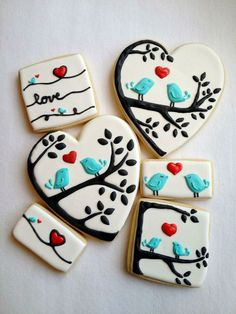Can there be anything more special for Valentine's Day than some adorable Valentines Day cookies? From heart shaped cookies to XOXO Cookies & Bird Cookies, Heart Shaped Cookies, Fancy Cookies, Heart Cookies, Cute Cookies, Royal Icing Cookies, Cupcake Cookies, Sugar Cookies, Baking Cookies