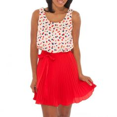 Polka Dot Dress. this looks fun to wear and twirl around in.