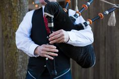 CHARLESTON WEDDINGS - Bagpiper at Boone Hall Plantation Winter Wedding.  Photographer: Jennings King Photography  /  Planning & Design: Fox Events