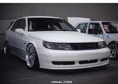 White Saab!