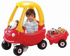 Little Tikes Cozy Coupe with Cozy Trailer  (I didn't know they had a trailer to tow behind it)