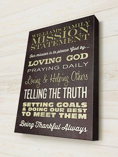 Our Personalized Family Mission State made in a Vintage, Rustic Typography Style, makes is a wonderful personalized gift for any family. Personalize