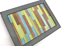 crafts using paint sticks | Crankin' Out Crafts Episode 135 - Popsicle Stick Frame (Wall Art)