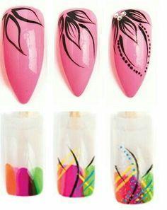 Make up secrets / Make-up Tutorials / Makeup ideas Nail Art Hacks, Nail Art Diy, Easy Nail Art, Diy Nails, New Nail Art, Nagel Bling, Nail Drawing, Nail Art Designs Videos, Floral Nail Art