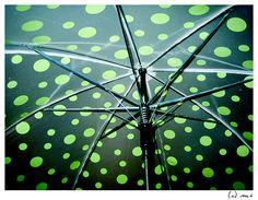 polka dot umbrella, via Flickr.