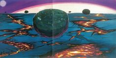 retroscifiart: Concept art for the stargate sequence in 2001...