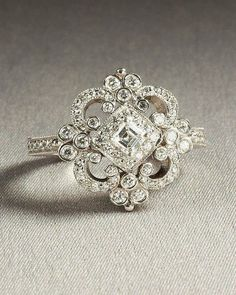 Vintage heirloom engagement ring - 35 Pieces Of Gorgeous Jewelery - Style Estate -