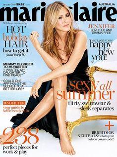 Jennifer Aniston - Marie Claire Magazine Cover [Australia] (January 2015)