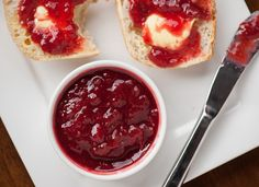 A homemade Strawberry Rhubarb Jam Recipe made from fresh rhubarb, strawberries, sugar, and lemon without pectin! This is the best jam with amazing flavors and texture. You can easily store it in your refrigerator or freezer, or can it! Save this pin! Strawberry Rhubarb Cobbler, Rhubarb Jam Recipes, Homemade Strawberry Jam, Strawberry Jam Recipe, Cooking Jam, Jam And Jelly, Canning Recipes, Food And Drink, Favorite Recipes