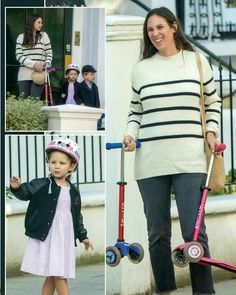 From Hola Mexico -- Tatiana with her children Sasha and India on the first day of school in London. Princess Alexandra, Princess Stephanie, Princess Charlene, Andrea Casiraghi, Charlotte Casiraghi, 5 Months Pregnant, Ernst August, Schools In London, Monaco Royal Family