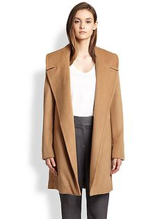 The perfect camel coat - L'Agence Wool & Cashmere Blend Notch Collar Coat