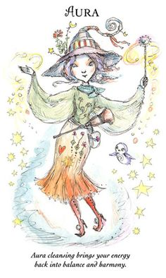 "☆ Witchling: Aura ""Aura cleansing brings your energy back into balance and harmony."" -::- Artist Paulina Cassidy ☆"