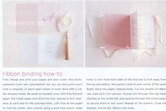 ribbon binding how-to via Martha Stewart Weddings