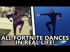 ALL FORTNITE DANCES IN REAL LIFE! (Best Mates, Take The L) *NEW 2018* - YouTube