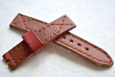 Heavy leather orange light brown red by VladislavKostetskyi