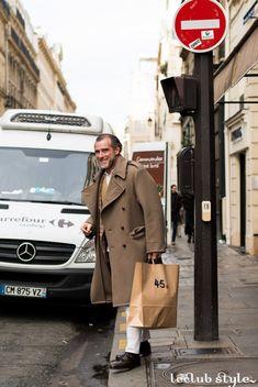 Menswear Street Style. Alessandro Squarzi by Ángel Robles. Paris Fashion Week.