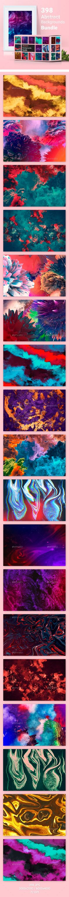 398 Abstract Backgrounds Bundle by kauster- 398 Abstract Backgrounds Bundle Bundle includes 8 high quality and tested by time graphicriver files. There are 398 backgrounds to