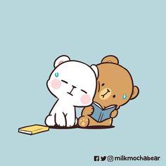 Cute Bear Drawings, Cute Cartoon Drawings, Cute Kawaii Drawings, Bear Meme, Bear Gif, Cute Couple Comics, Cute Sketches, Cute Cartoon Images, Kawaii Illustration