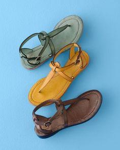 Frye Rachel T-Strap Sandals - Garnet Hill