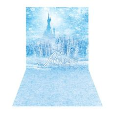 Frozen Inspired Castle Backdrop for birthday party by FabDrops