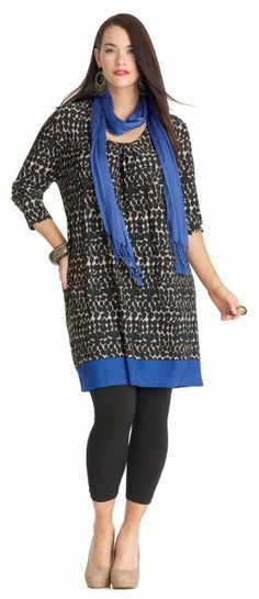 My Size Metro Printed Dress #Plus #fashion #plussize Plus Size Women #biggirlsguide