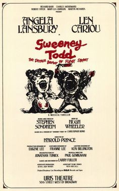 Sweeney Todd 1979 Broadway Posters Theatre Play Poster Plays