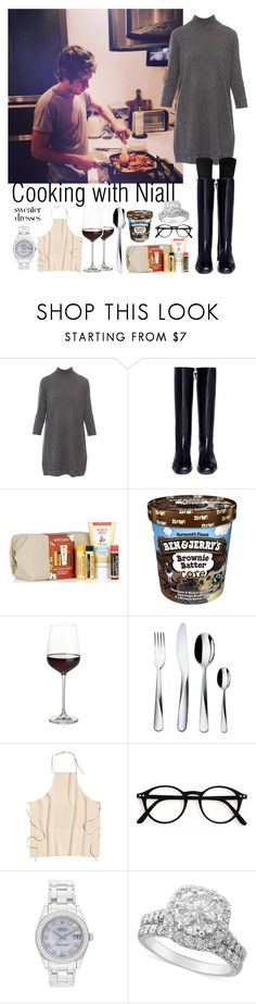 """Cooking with Niall Horan"" by ap0dita ❤ liked on Polyvore featuring Repeat, Stuart Weitzman, Burt's Bees, Crate and Barrel, Alessi, Rolex, outfit, NiallHoran and clothes"