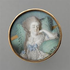 Louise-Marie Adelaide de Bourbon-Penthievre, dowager duchesse d'Orleans (1753-1821), 18th century miniature, French school (Chantilly, musee Conde)