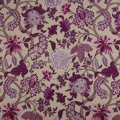 manuel canovas purple linen fabric