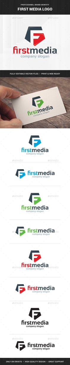 First Media Letter F - Logo Design Template Vector #logotype Download it here: http://graphicriver.net/item/first-media-letter-f-logo/7628489?s_rank=857?ref=nexion
