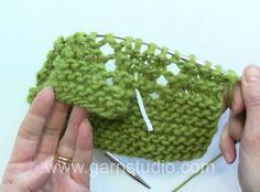 How to make Raglan with holes. Video tutorial by #Garnstudio #DropsDesign .
