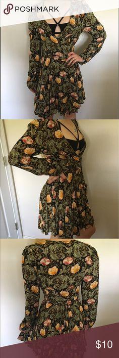 PacSun Floral Print Wrap Around Dress Wrap around style floral print dress from PacSun PacSun Dresses Mini