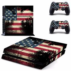 Vinly for PS4 Sticker America Flag Sticker For Sony Play station 4 Console protection Film and Cover Decals Of 2 Controller #Affiliate